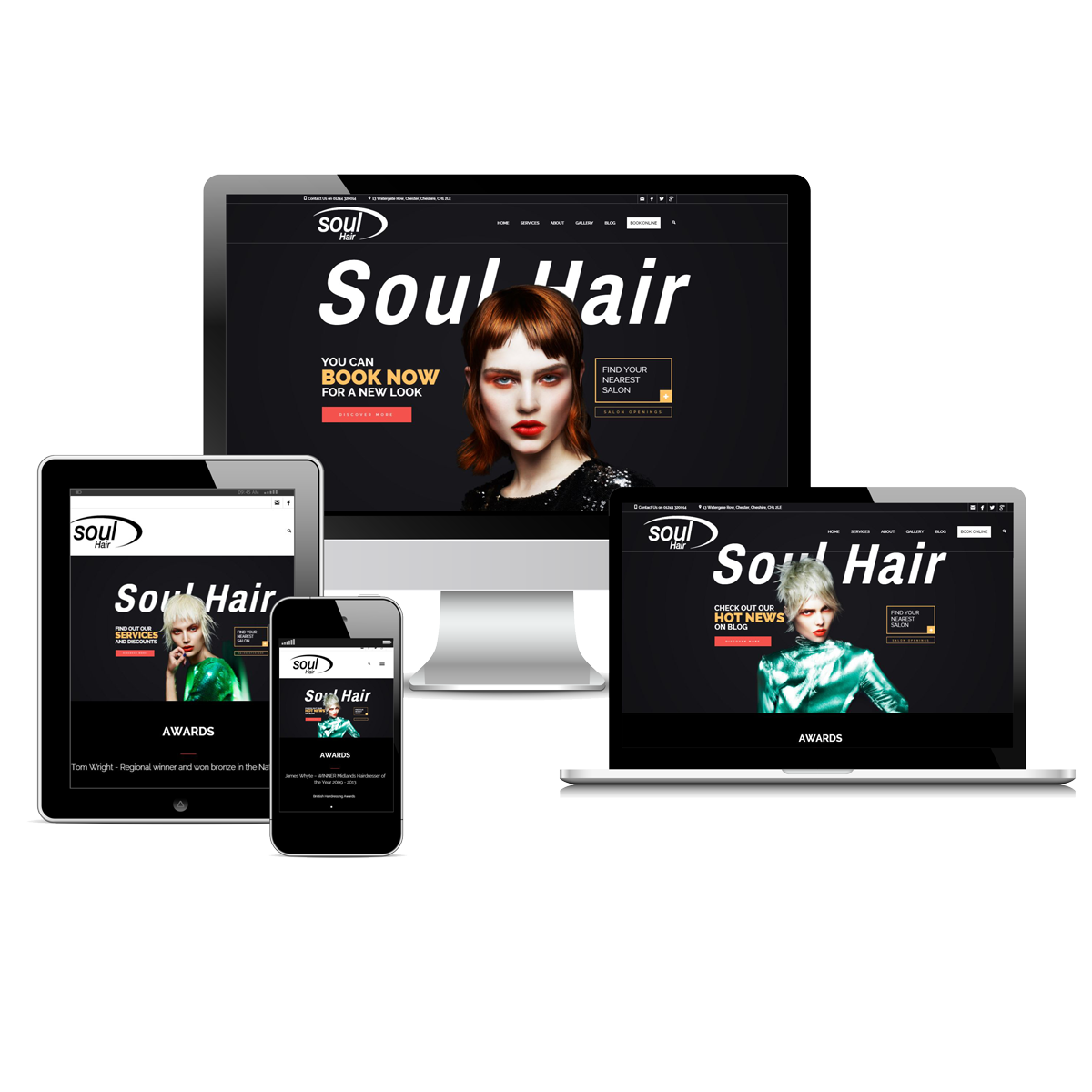 Soul Hair Salon Website