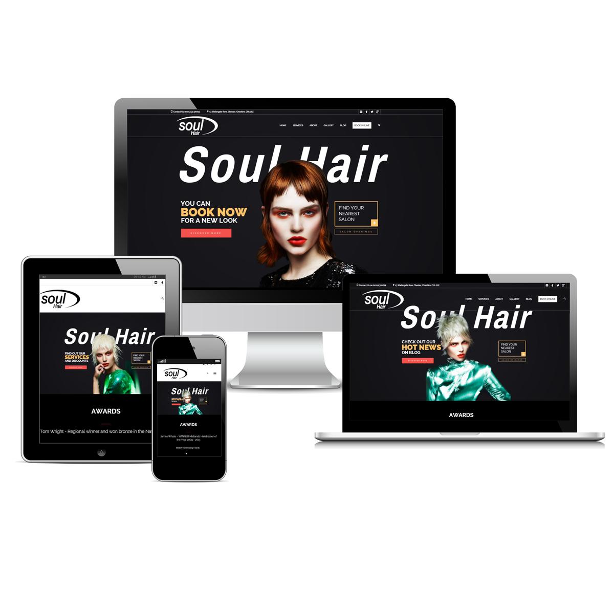 Soul Hair Salon Website