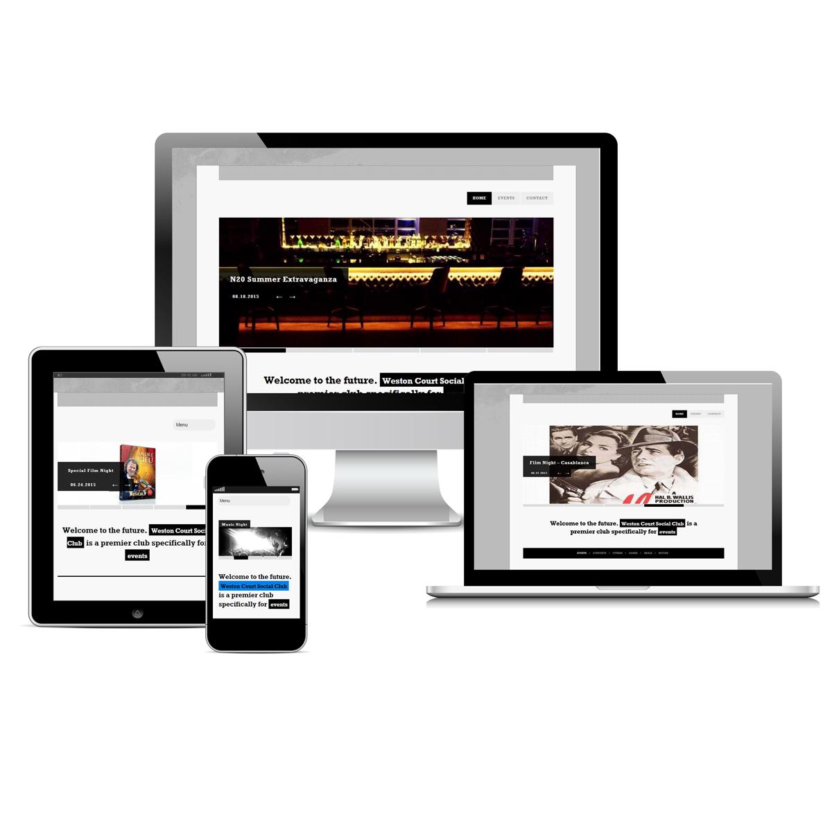 Weston Court Social Club Entertainment Website